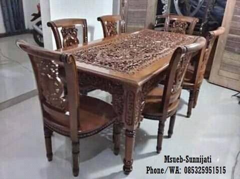 kursi makan salinah meja klewer