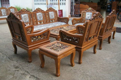 Furniture Ruang Tamu Set Naga Ukir Kayu Jati