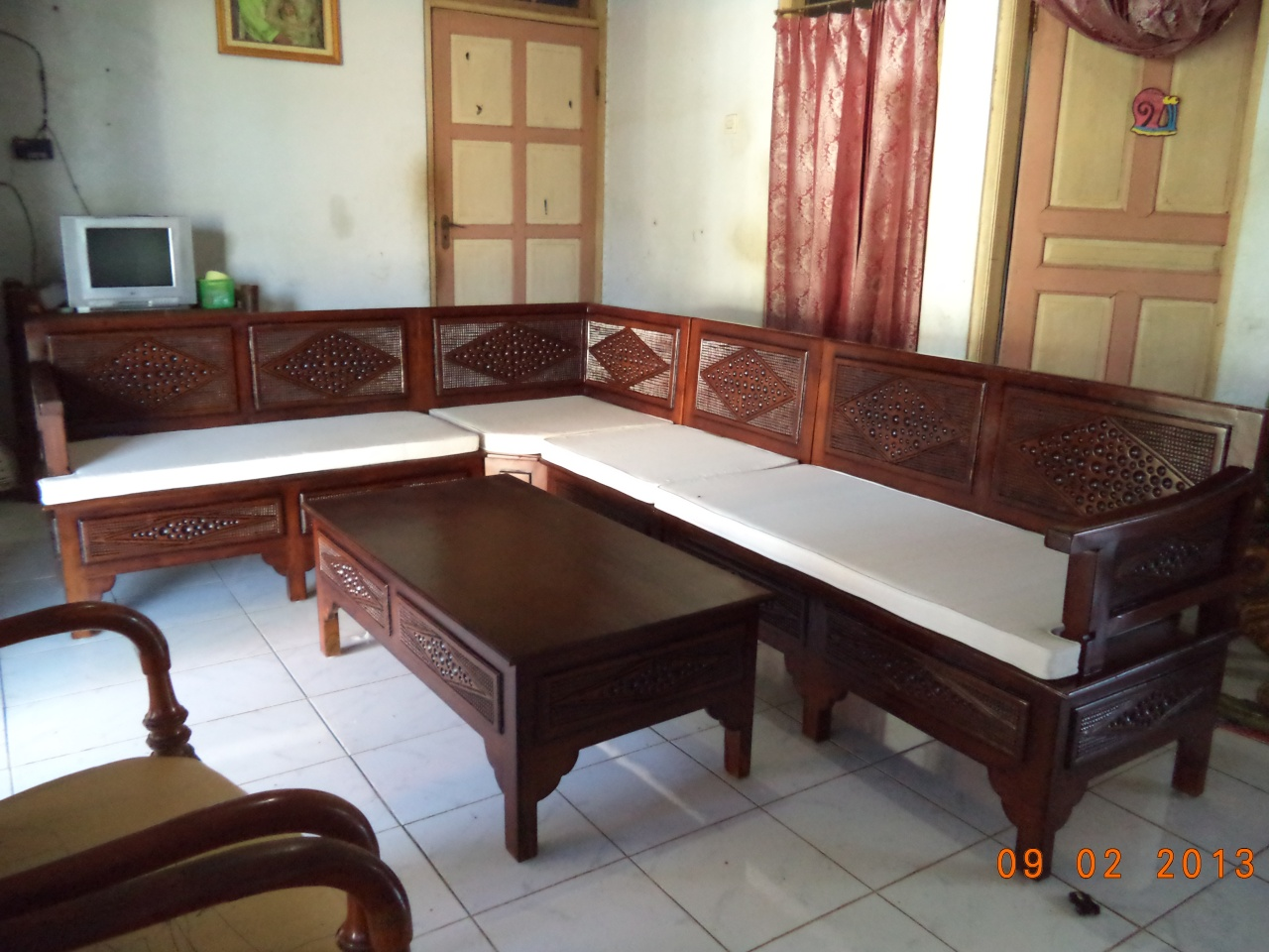 furniture mebel kursi tamu jati