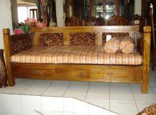 bale-bale bangku minimalis jati  ukir khas jepara
