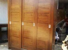 almari pakaian minimalis 3 pintu sliding