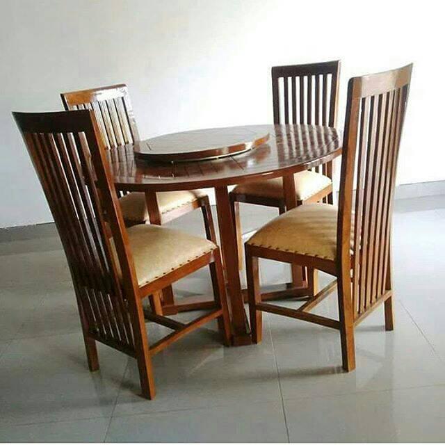 set kursi makan salur meja putar