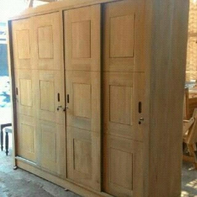 Almari pakaian 4 pintu terbaru lengkap dan murah