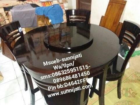 Kursi makan cantik meja putar