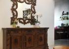 Bufet pilar pigura cermin hias