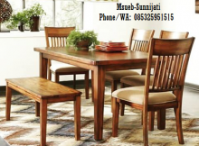 set kursi meja makan modern
